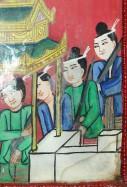 Détail d'une peinture sur verre, Salay. Photo Marchés d'Asie.