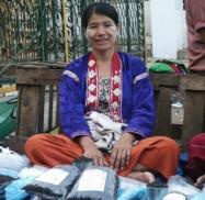 Vendeuse de thé à Rangoon