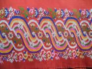 Longy birman (détail) en soie, tissé main