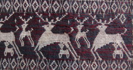 Détail d'une écharpe. Photo Marchés d'Asie.